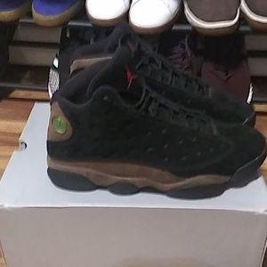 "Air Jordan Retro 13 ""Olive"" black / olive suede"